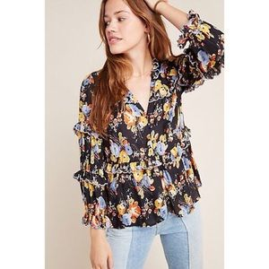 Anthropologie Maeve Myra Tiered Blouse
